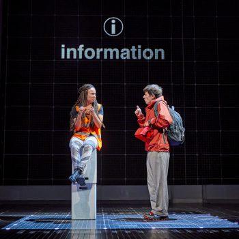 Crystal Condie (Information) and Joshua Jenkins (Christopher Boone). Photo by BrinkhoffMögenburg