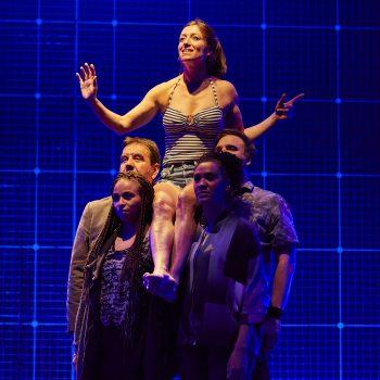 Emma Beattie (Judy) and ensemble. Curious Incident International Tour. Photo by BrinkhoffMögenburg