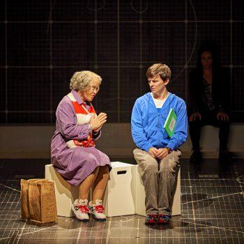 Joshua Jenkins (Christopher Boone) & Debra Michaels (Mrs Alexander). Photo BrinkhoffMögenburg