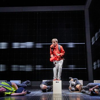 Joshua Jenkins (Christopher) and company – Curious Incident International Tour. Photo by BrinkhoffMögenburg