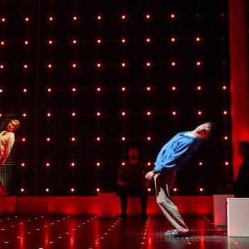 Julie Hale (Siobhan) and Joshua Jenkins (Christopher Boone) Curious Incident International Tour. Photo by BrinkhoffMögenburg