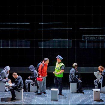 Scott Reid (Christopher), Bruce McGregor (Policeman) & ensemble