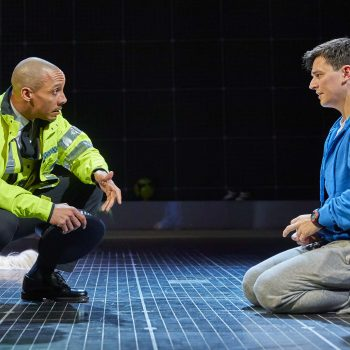 Craig Stein and Joshua Jenkins (Christopher Boone) in The Curious Incident of the Dog in the Night-Time – Photo Brinkhoff/Mögenburg