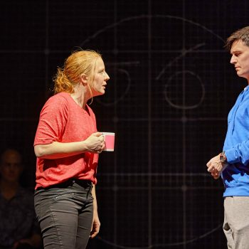 Eliza Collings and Joshua Jenkins (Christopher) in The Curious Incident of the Dog in the Night-Time  – Photo Brinkhoff/Mögenburg