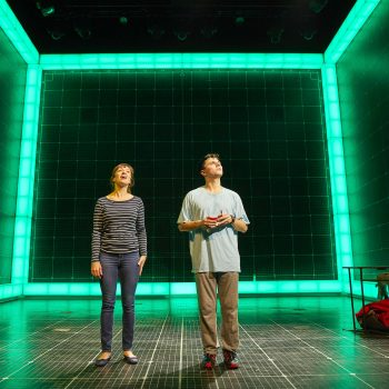 Emma Beattie (Judy) and Joshua Jenkins (Christopher) in The Curious Incident of the Dog in the Night-Time  – Photo Brinkhoff/Mögenburg