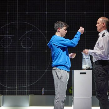Joshua Jenkins (Christopher Boone) and Lucas Hare in The Curious Incident of the Dog in the Night-Time – Photo Brinkhoff/Mögenburg