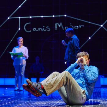 Julie Hale, Stuart Laing and Joshua Jenkins in The Curious Incident of the Dog in the Night-Time – Photo Brinkhoff/Mögenburg