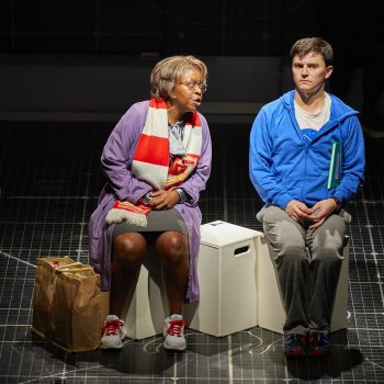Lynette Clarke and Joshua Jenkins (Christopher) in The Curious Incident of the Dog in the Night-Time – Photo Brinkhoff/Mögenburg